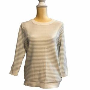 Eddie Bauer   light weight striped sweatshirt